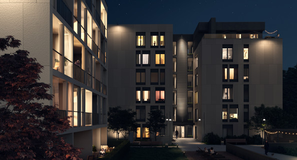 Residential district block of flats design