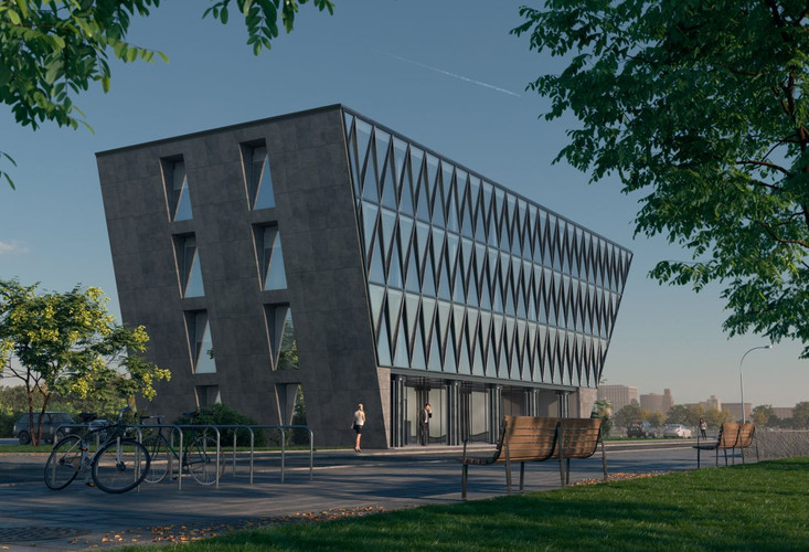HOUSE BRAS 3D Rendering of administrative building