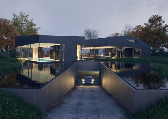 HOUSE BRAS 3D Rendering of residential building