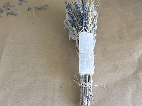 Sage Bundle with Selenite