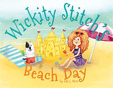 children's book story about a witch and cat enjoying their beach day adventure.