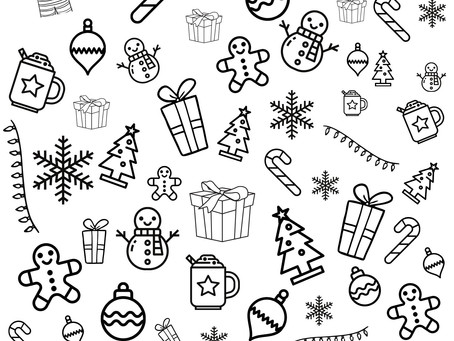 Wickity Stitch's Christmas Puzzles and Coloring Sheets!