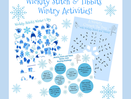 Winter Kids Activity:Connect The Dots, I Spy and a Reading Challenge!