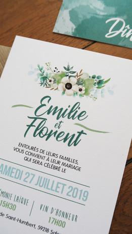 Mariage Folk Bohème Vert