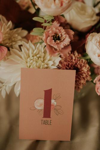 Numéro de table L'été indien