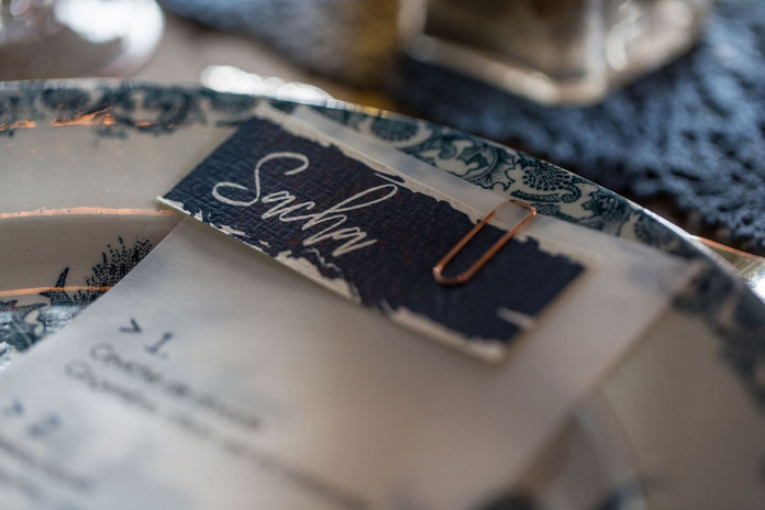 Mariage Brooklyn industriel vintage indigo