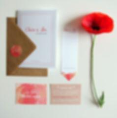faire-part mariage sur-mesure à personnaliser,  champêtre corail avec fanions, tandem, rétro, vintage, rustique, moderne, typo