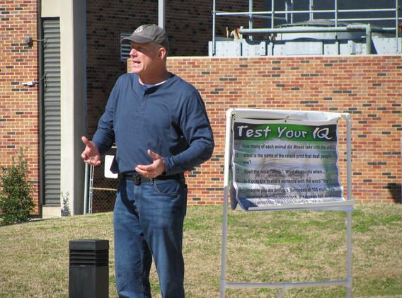15. David preaching at Southeastern Loui