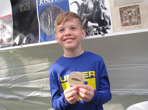 40. Fish fossil winner, Southdown, April