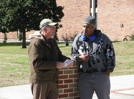 18. Richard talking with a student at So
