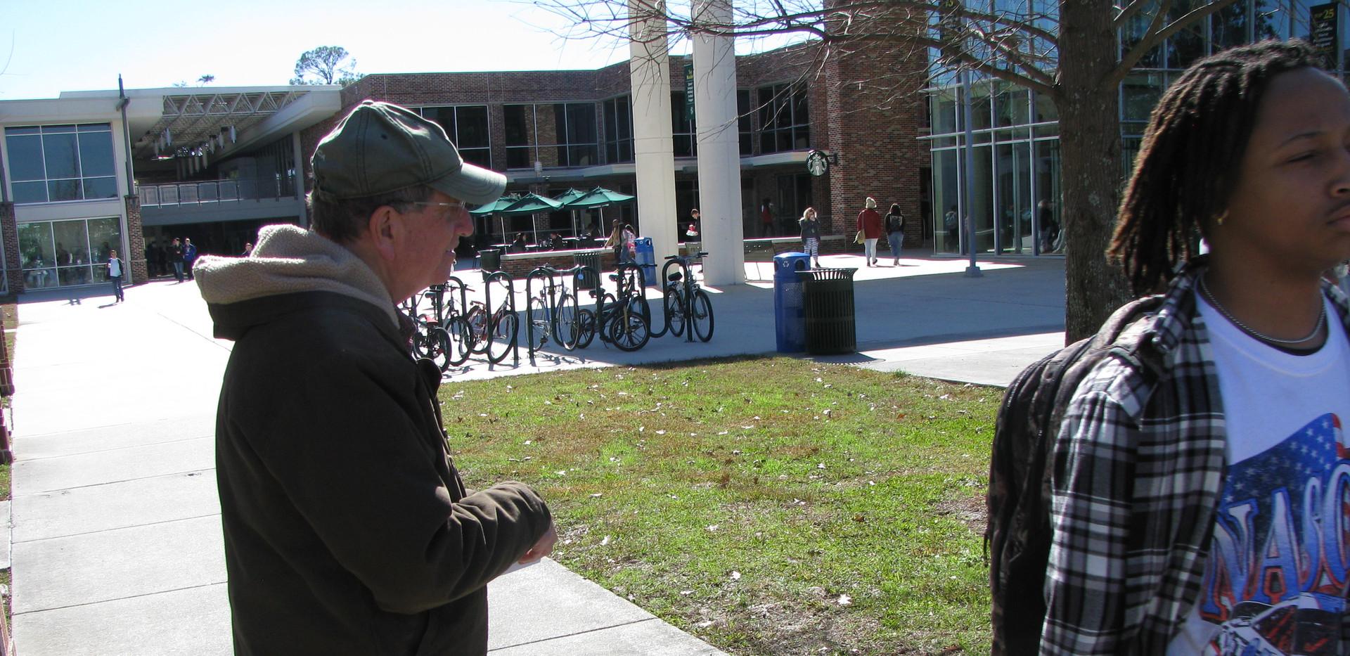 11. Richard Kellar distributing What Tim