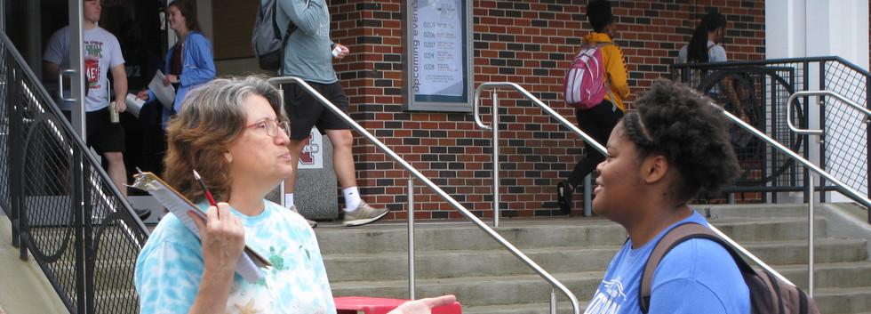 11. Maureen spreading the gospel at NSU