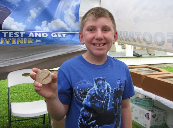 42. Fish fossil winner, Southdown, April