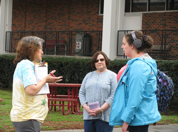 17. Maureen and Cindy sharing the gospel