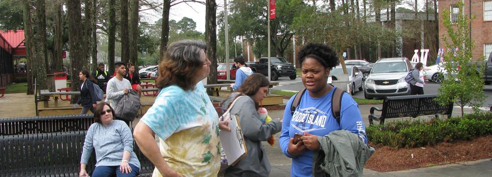 12. Maureen spreading the gospel at NSU