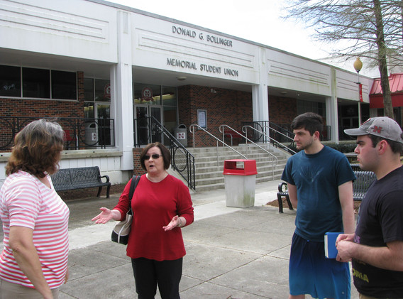 46. Maureen, Cindy, Jacob, Thomas at NSU