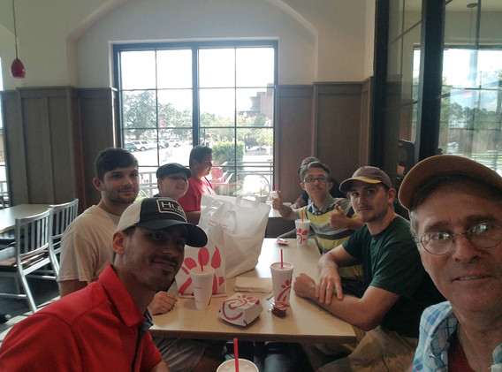 25. Lunch with the evangelism team at NS