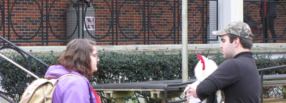 26. Thomas sharing the gospel at NSU, Fe