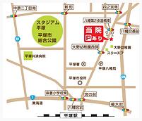 動物病院への地図