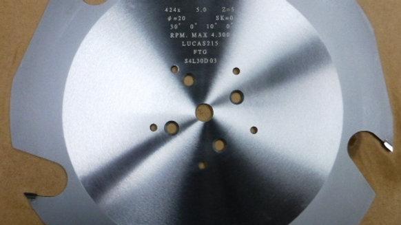 Lucas Saws -Dia- 634mm Teeth-5T Kerf mm -6.1 Plate mm-3.6