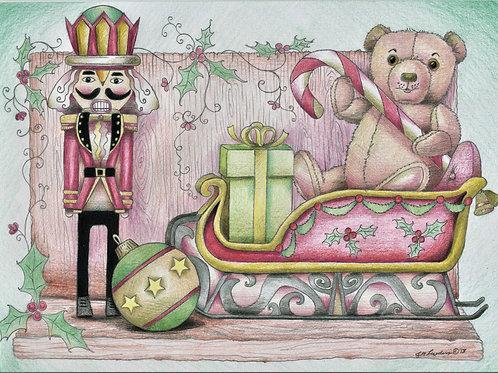 Christmas Nutcracker and Teddy