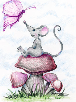 Country Mouse on the Mushroom.jpg