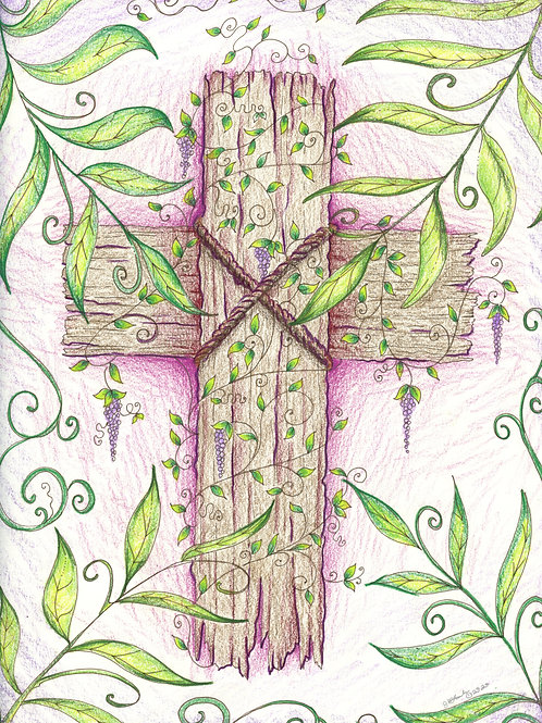 Lilacs and the Cross (Original or Fine Art Print)