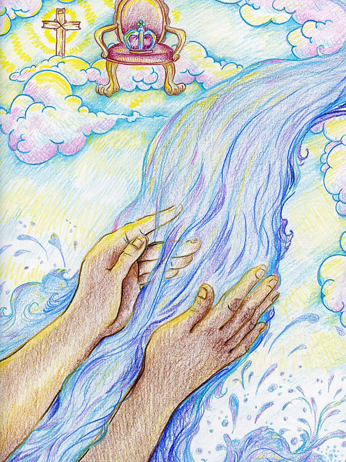 Receiving the gift of Baptism (Original or Fine Art Print)