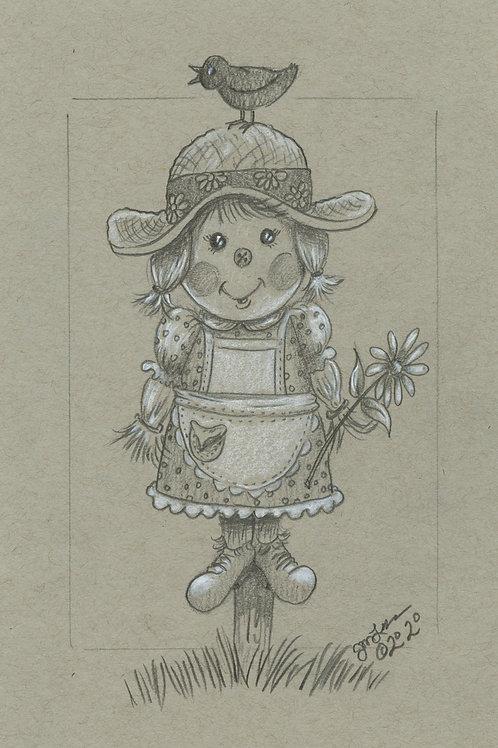 Countryside Scarecrow (Original or Fine Art Print)