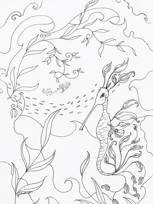 Set of 3 Ocean Mini Coloring Pages