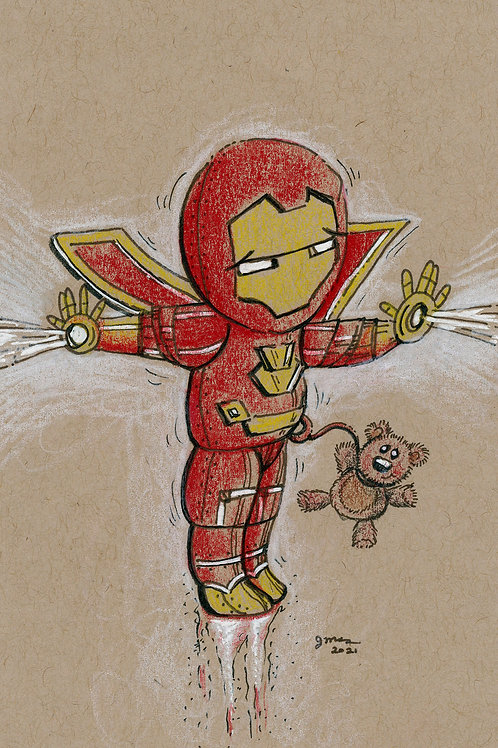 Iron Baby Rescuing his Teddy