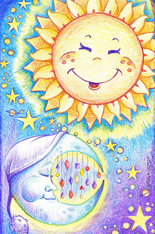 The Sun & the Moon (Original or Fine Art Print)