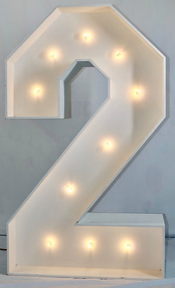 5ft LED Marquee Number 2