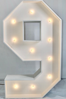 5ft LED Marquee Number 9