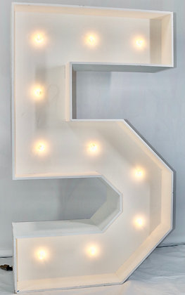 5ft LED Marquee Number 5