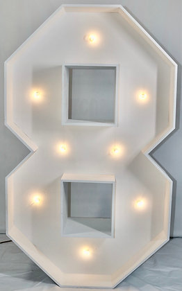 5ft LED Marquee Number 8