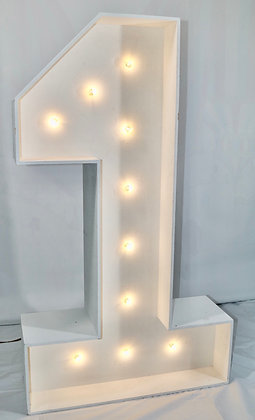 5ft LED Marquee Number 1