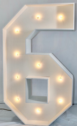 5ft LED Marquee Number 6