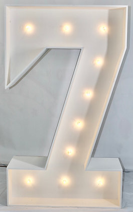 5ft LED Marquee Number 7