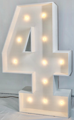 5ft LED Marquee Number 4