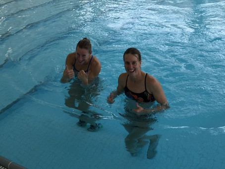 Water running for triathlon