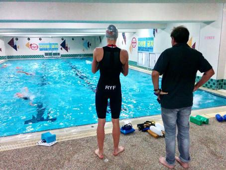 Swim training in short pools