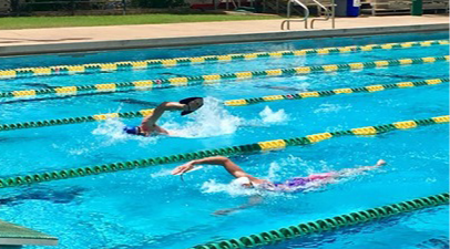 Selecting swim interval distances
