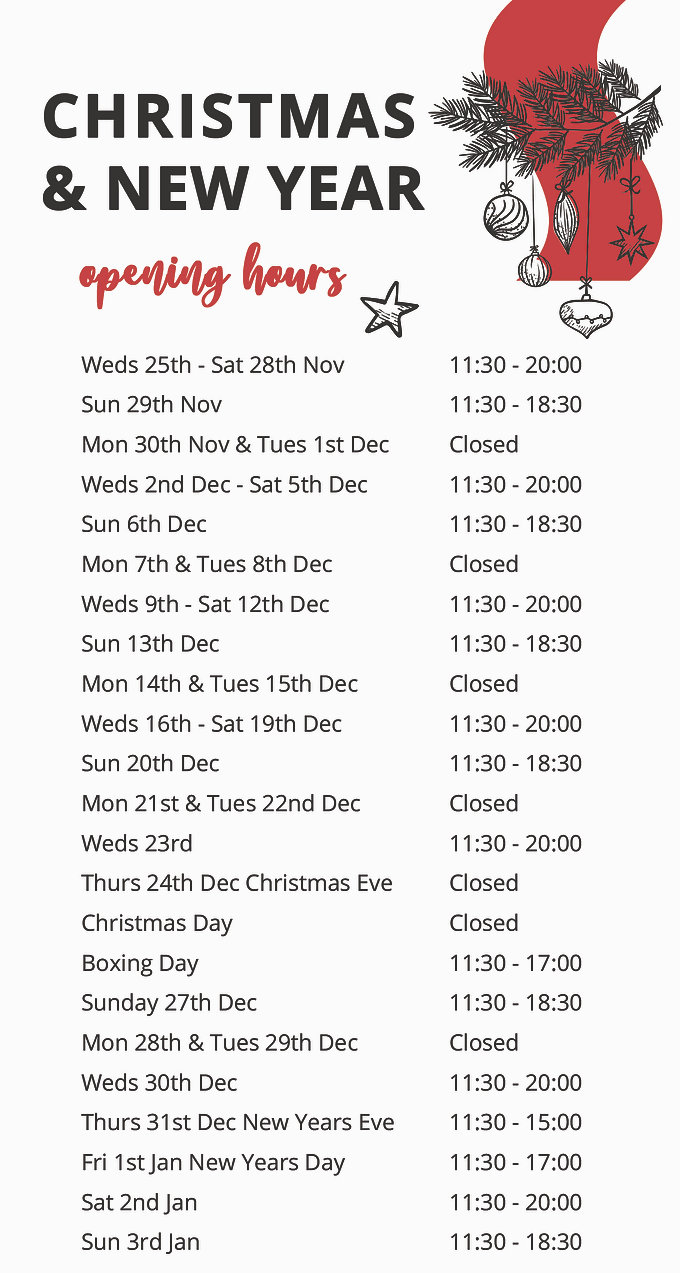 The Beck Christmas opening hours