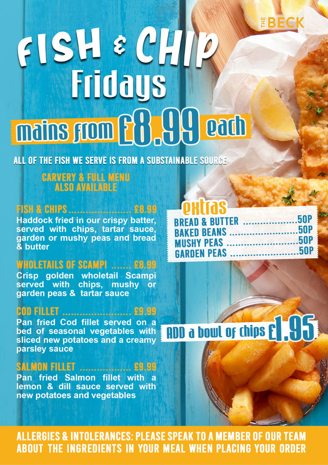 FISH & CHIP FRIDAYS!