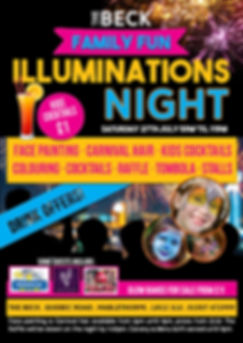 mablethorpe illuminations night at The Beck