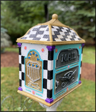 a painted mailbox