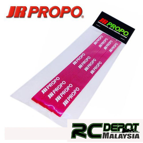 JR Propo Battery Strap Red 4pcs (Small)