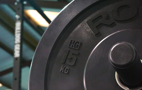 Over 500kg of weight plates