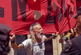 Protesting Man